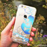 MADE IN JAPAN Soft Clear Case for iPhone 6/6s - Mermaid Blue - Dhouse USA - 4