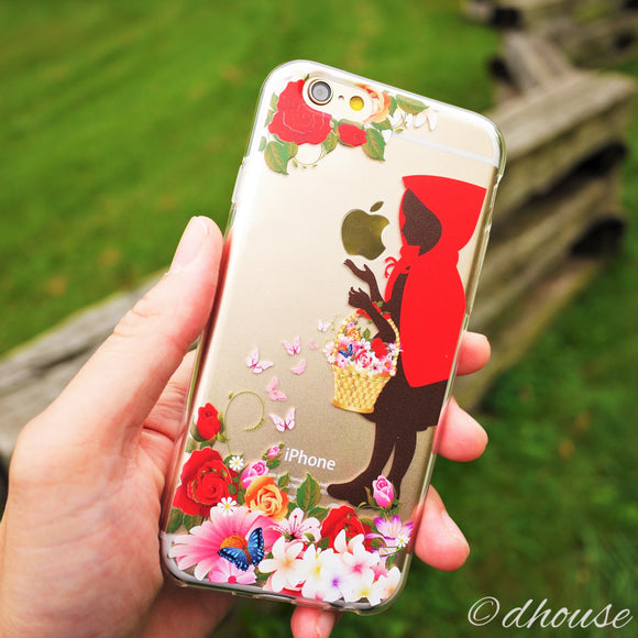 Cute Soft Clear iPhone Case - Little Red Riding Hood Made in Japan by DHOUSE