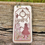 MADE IN JAPAN Cute Soft Clear iPhone Case - Alice in Wonderland