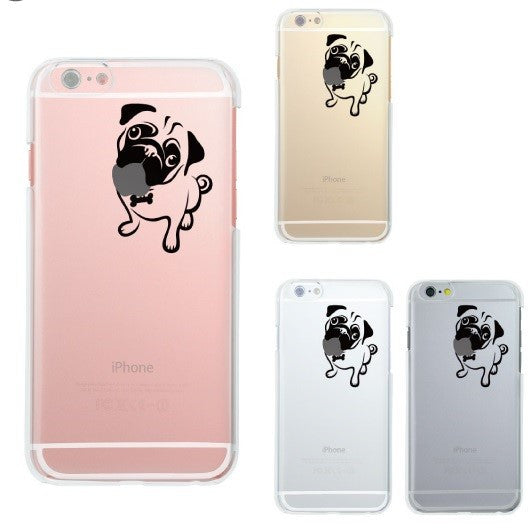 MADE IN JAPAN Soft Clear Case - Cute Pug Dog for iPhone 6/6s - Dhouse USA - 2