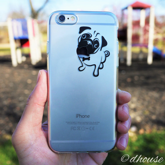 MADE IN JAPAN Soft Clear Case - Cute Pug Dog for iPhone 6/6s - Dhouse USA - 1