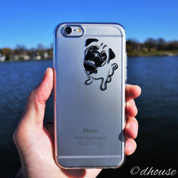 MADE IN JAPAN Soft Clear Case - Cute Pug Dog for iPhone 6/6s - Dhouse USA - 3