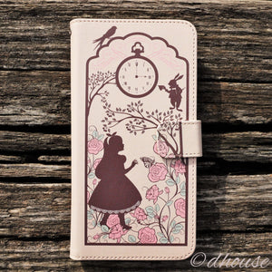 MADE IN JAPAN Cute Wallet iPhone Case Alice in Wonderland