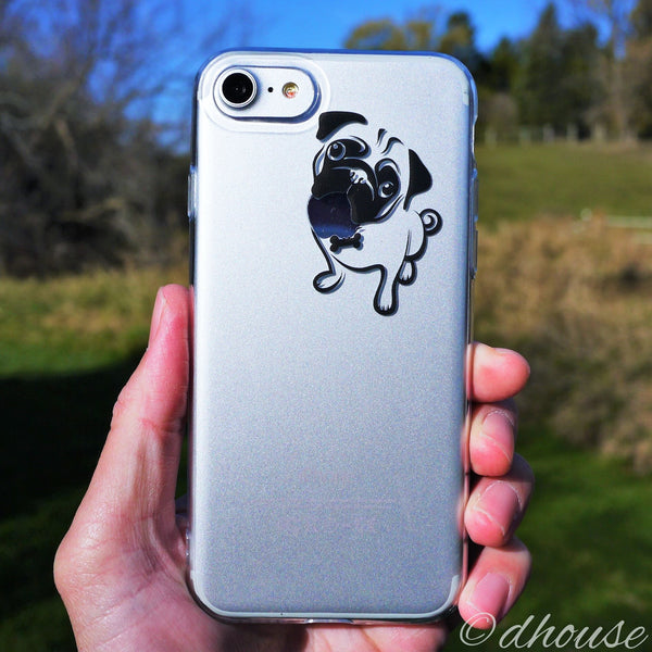 MADE IN JAPAN Soft Clear iPhone Case - Cute Pug Dog