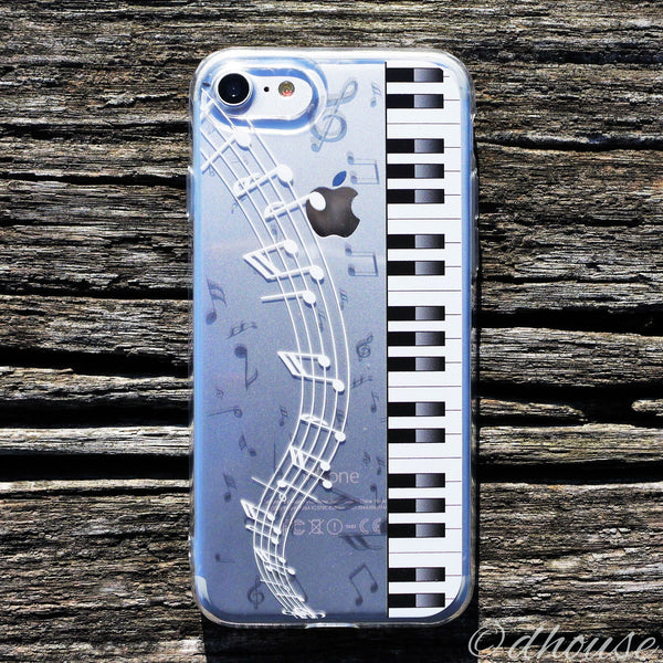 MADE IN JAPAN Soft Clear Case - Piano Music for iPhone 7 - Dhouse USA - 1
