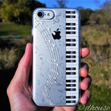 Cute Soft Clear Case - Piano Music Made in Japan by DHOUSE