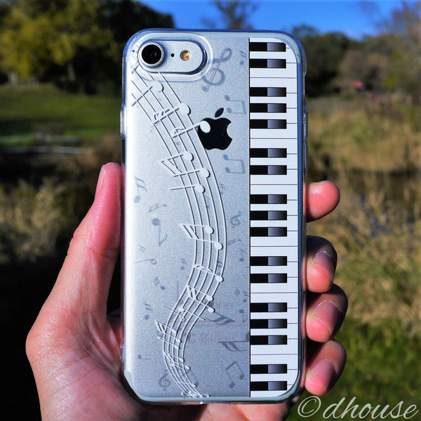 MADE IN JAPAN Soft Clear Case - Piano Music for iPhone 7 - Dhouse USA - 2