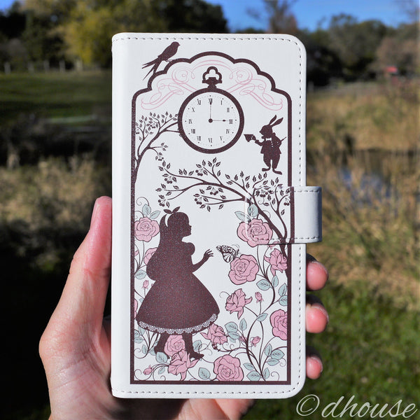 MADE IN JAPAN Wallet Case for iPhone 7 Plus - Alice in Wonderland White - Dhouse USA - 3