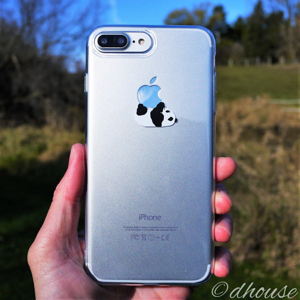 MADE IN JAPAN Soft Clear Case - Panda Crawling for iPhone 7 Plus - Dhouse USA - 1