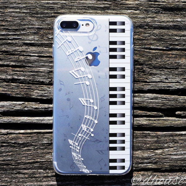 MADE IN JAPAN Soft Clear Case - Piano Music for iPhone 7 Plus - Dhouse USA - 1