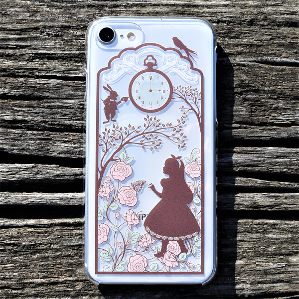 MADE IN JAPAN Hard Shell Clear Case for iPhone 8/8 Plus - Alice in Wonderland