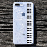 Cute iPhone Clear Case - Piano Music Made in Japan by DHOUSE