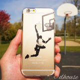 Cool Soft Clear iPhone Case - Basketball Player Made in Japan by DHOUSE