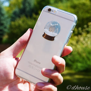 Cute Soft Clear iPhone Case - Snow Globe - Made in Japan by DHOUSE