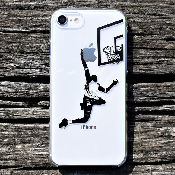 MADE IN JAPAN Hard Shell Clear Case for iPhone 8/8 Plus - Basketball Player