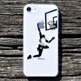 Cool Clear iPhone Case - Basketball player Made in Japan by DHOUSE
