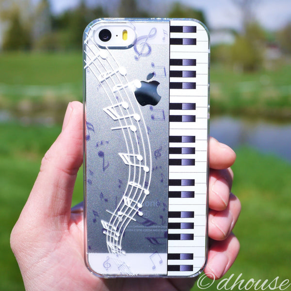 MADE IN JAPAN Hard Shell Clear Case for iPhone SE/5/5s - Piano Sheet Music - Dhouse USA - 1