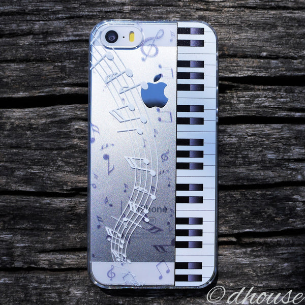 MADE IN JAPAN Hard Shell Clear Case for iPhone SE/5/5s - Piano Sheet Music - Dhouse USA - 3