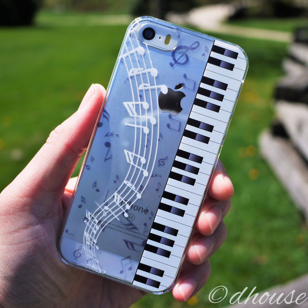 MADE IN JAPAN Hard Shell Clear Case for iPhone SE/5/5s - Piano Sheet Music - Dhouse USA - 4