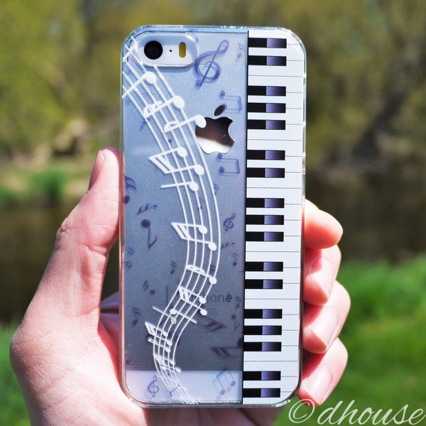 MADE IN JAPAN Hard Shell Clear Case for iPhone SE/5/5s - Piano Sheet Music - Dhouse USA - 5