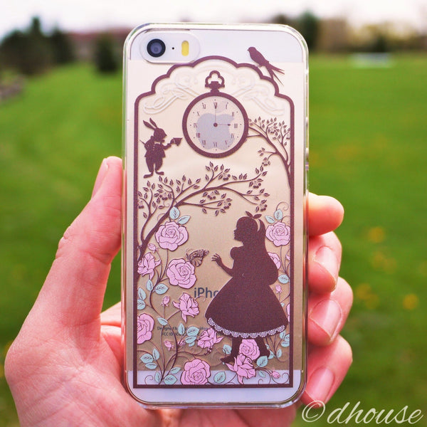 MADE IN JAPAN Hard Shell Clear Case for iPhone SE/5/5s - Alice in Wonderland - Dhouse USA - 1
