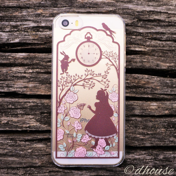 MADE IN JAPAN Hard Shell Clear Case for iPhone SE/5/5s - Alice in Wonderland - Dhouse USA - 4