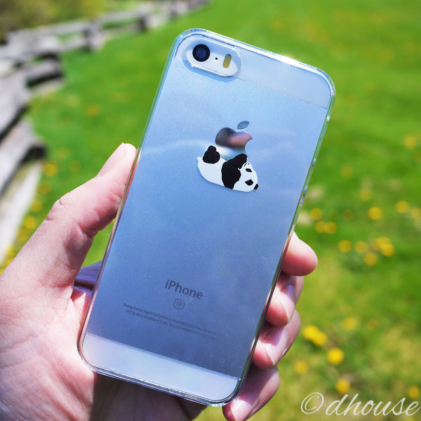 MADE IN JAPAN Hard Shell Clear Case for iPhone SE - Panda Crawling - Dhouse USA - 2