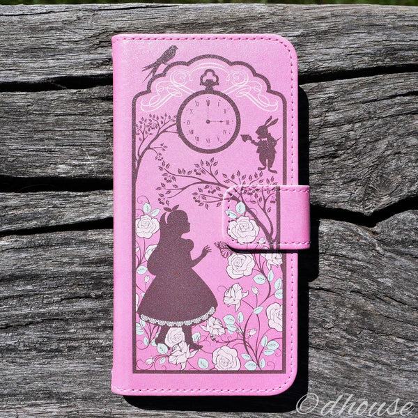 MADE IN JAPAN Wallet Case for iPhone 6/6s  - Alice in Wonderland Lavender - Dhouse USA - 3