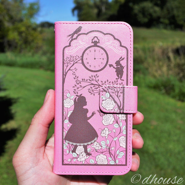 MADE IN JAPAN Wallet Case for iPhone 6/6s  - Alice in Wonderland Lavender - Dhouse USA - 1