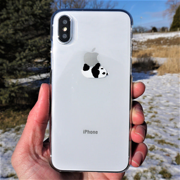 MADE IN JAPAN Hard Shell Clear Case for iPhone X - Panda Crawling
