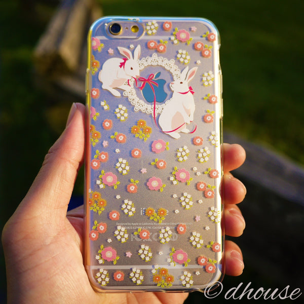 MADE IN JAPAN Soft Clear iPhone 6/6s Case - Cute Rabbit - Dhouse USA - 1