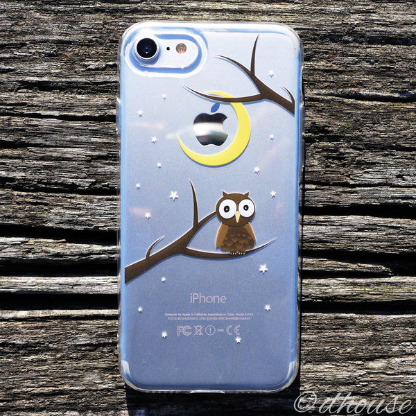 MADE IN JAPAN Soft Clear Case - Cute Owl for iPhone 7 - Dhouse USA - 1