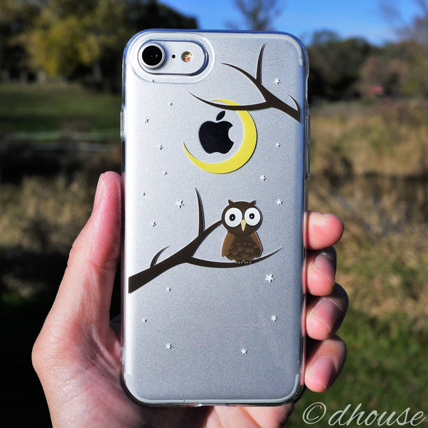 MADE IN JAPAN Soft Clear Case - Cute Owl for iPhone 7 - Dhouse USA - 2