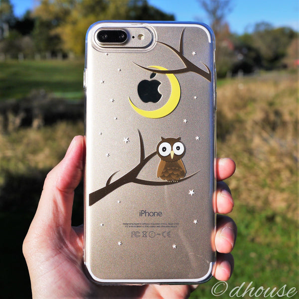 MADE IN JAPAN Soft Clear Case - Cute Owl for iPhone 7 Plus - Dhouse USA - 1