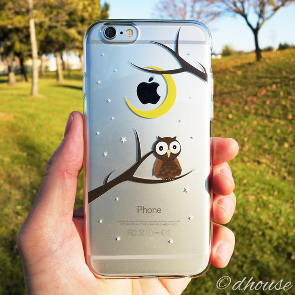 MADE IN JAPAN Soft Clear iPhone Case - Cute Owl - Dhouse USA - 1