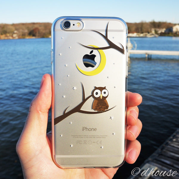 MADE IN JAPAN Soft Clear iPhone Case - Cute Owl - Dhouse USA - 3