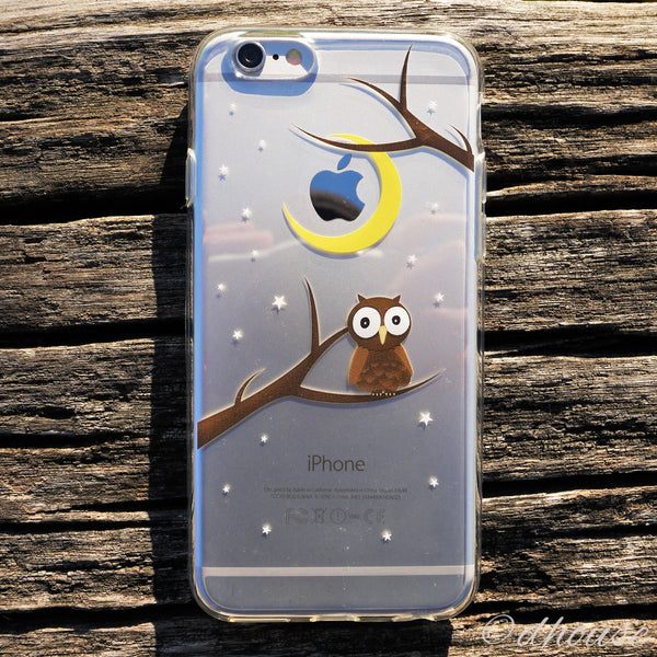 MADE IN JAPAN Soft Clear iPhone Case - Cute Owl - Dhouse USA - 4