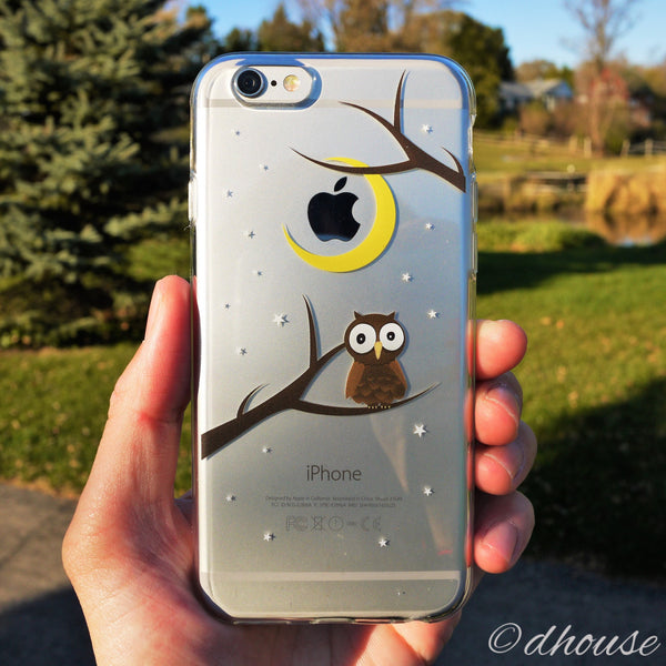 MADE IN JAPAN Soft Clear iPhone Case - Cute Owl - Dhouse USA - 5