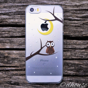 Cute Hard Shell Clear iPhone Case Cute Owl Made in Japan by DHOUSE