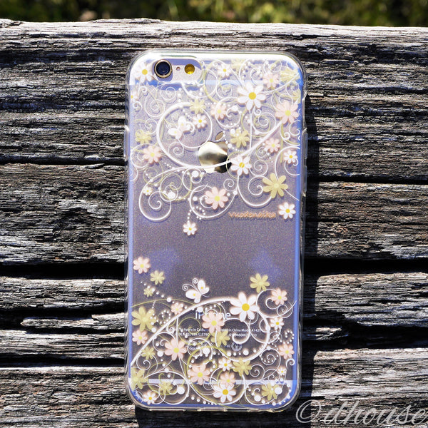 MADE IN JAPAN Soft Clear iPhone 6/6s Case - Cute Floral pattern - Dhouse USA - 3