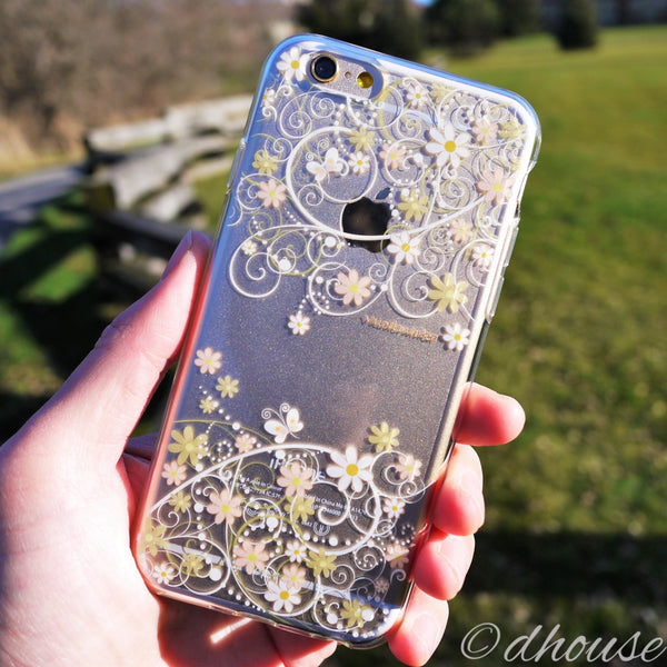 MADE IN JAPAN Soft Clear iPhone 6/6s Case - Cute Floral pattern - Dhouse USA - 4