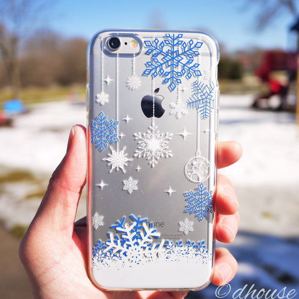 MADE IN JAPAN Soft Clear iPhone 6/6s Case - Snowflake Blue - Dhouse USA - 1