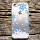MADE IN JAPAN Soft Clear iPhone 6/6s Case - Snowflake Blue - Dhouse USA - 3