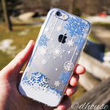MADE IN JAPAN Soft Clear iPhone 6/6s Case - Snowflake Blue - Dhouse USA - 4