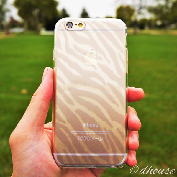 MADE IN JAPAN Soft Clear iPhone 6/6s Case - Zebra Pattern - Dhouse USA - 1