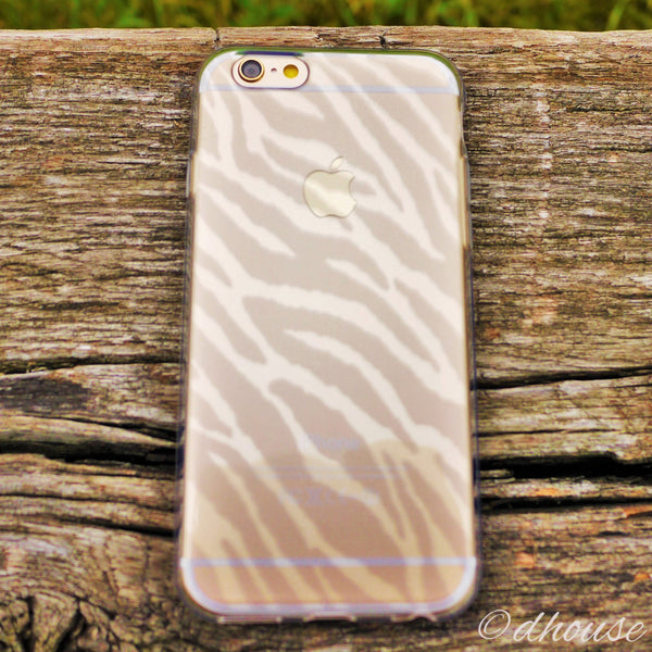 MADE IN JAPAN Soft Clear iPhone 6/6s Case - Zebra Pattern - Dhouse USA - 3