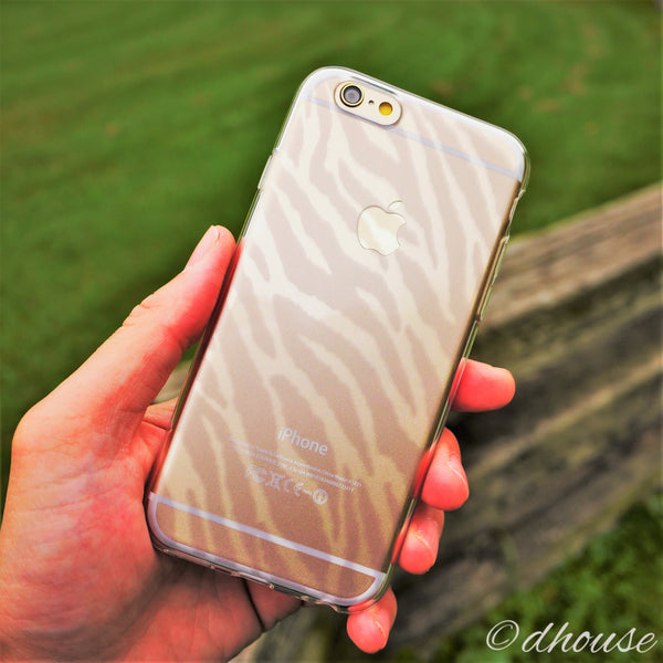 MADE IN JAPAN Soft Clear iPhone 6/6s Case - Zebra Pattern - Dhouse USA - 4