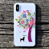 Cute Clear iPhone Case - Dog Color Tree Made in Japan by DHOUSE