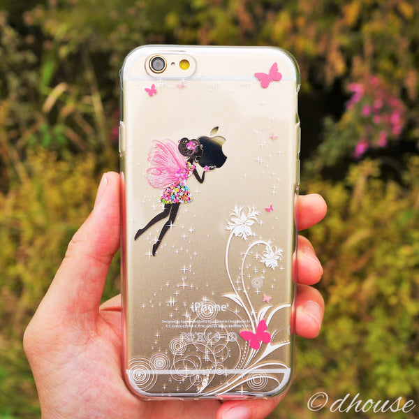 MADE IN JAPAN Soft Clear iPhone 6/6s Case - Butterfly Fairy - Dhouse USA - 1