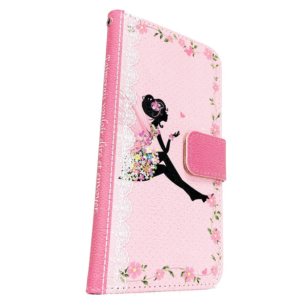 MADE IN JAPAN Wallet Case - Cute Fairy Flowers Pink for iPhone 6/6s - Dhouse USA - 3
